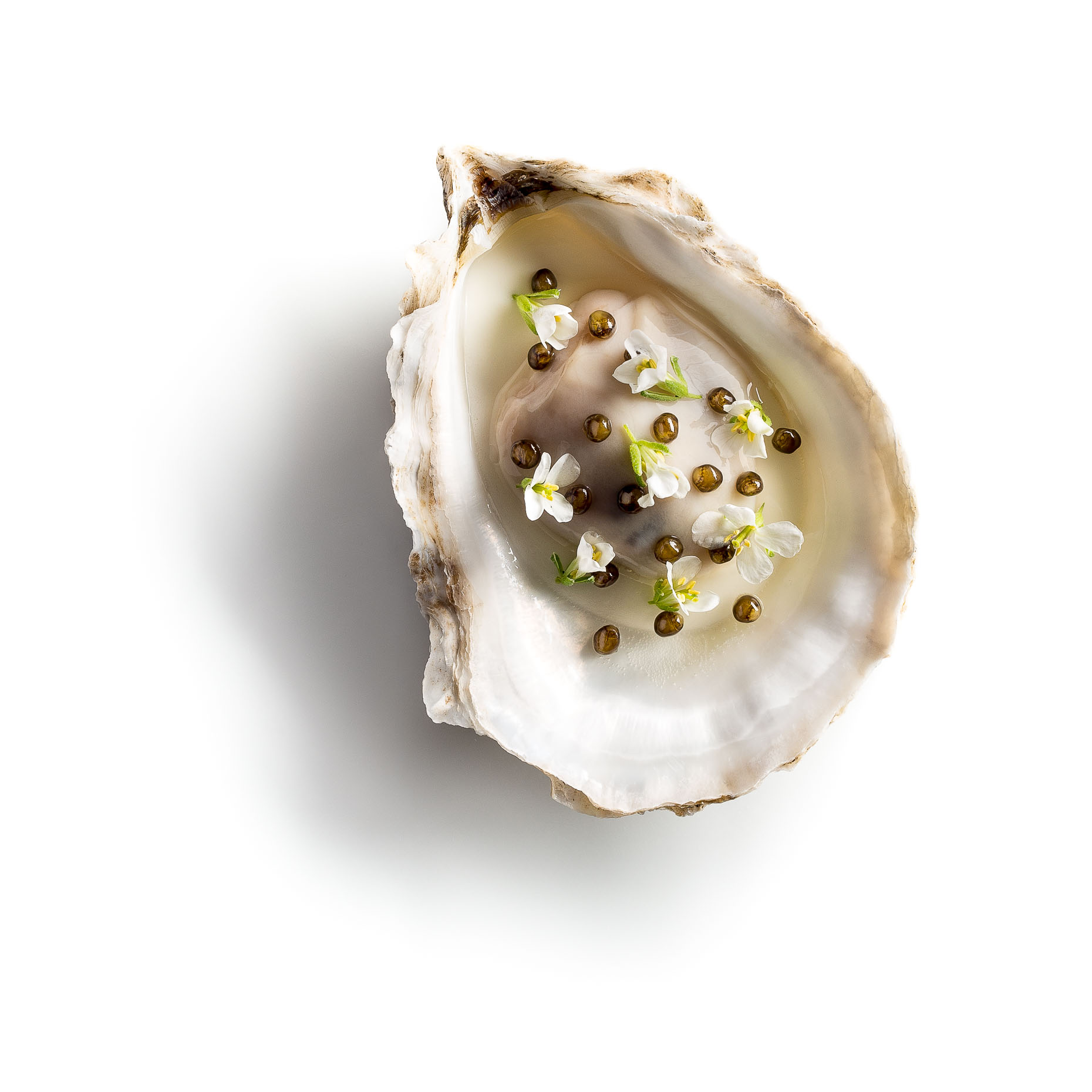 Oysters with Creme Fraiche and Caviar