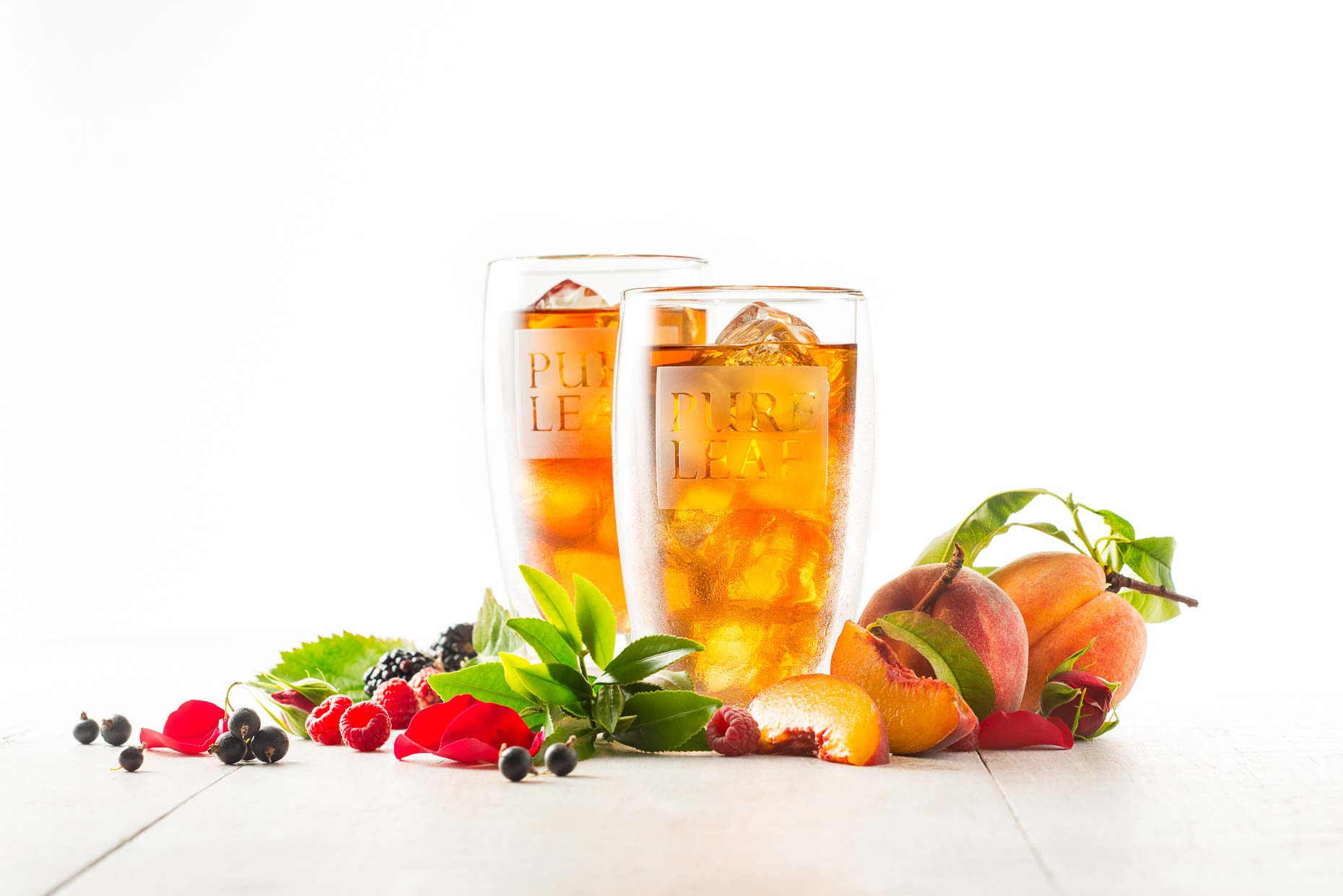 Peach & Raspberry Pure Leaf Tea with Fruit