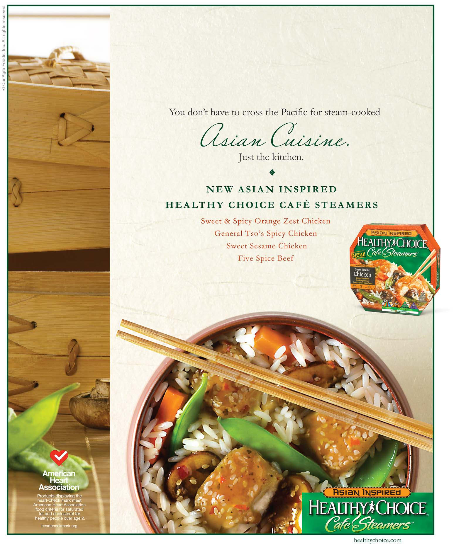 ConAgra - Healthy Choice - Asian Inspired Cafe Steamers - Ad - Nitro