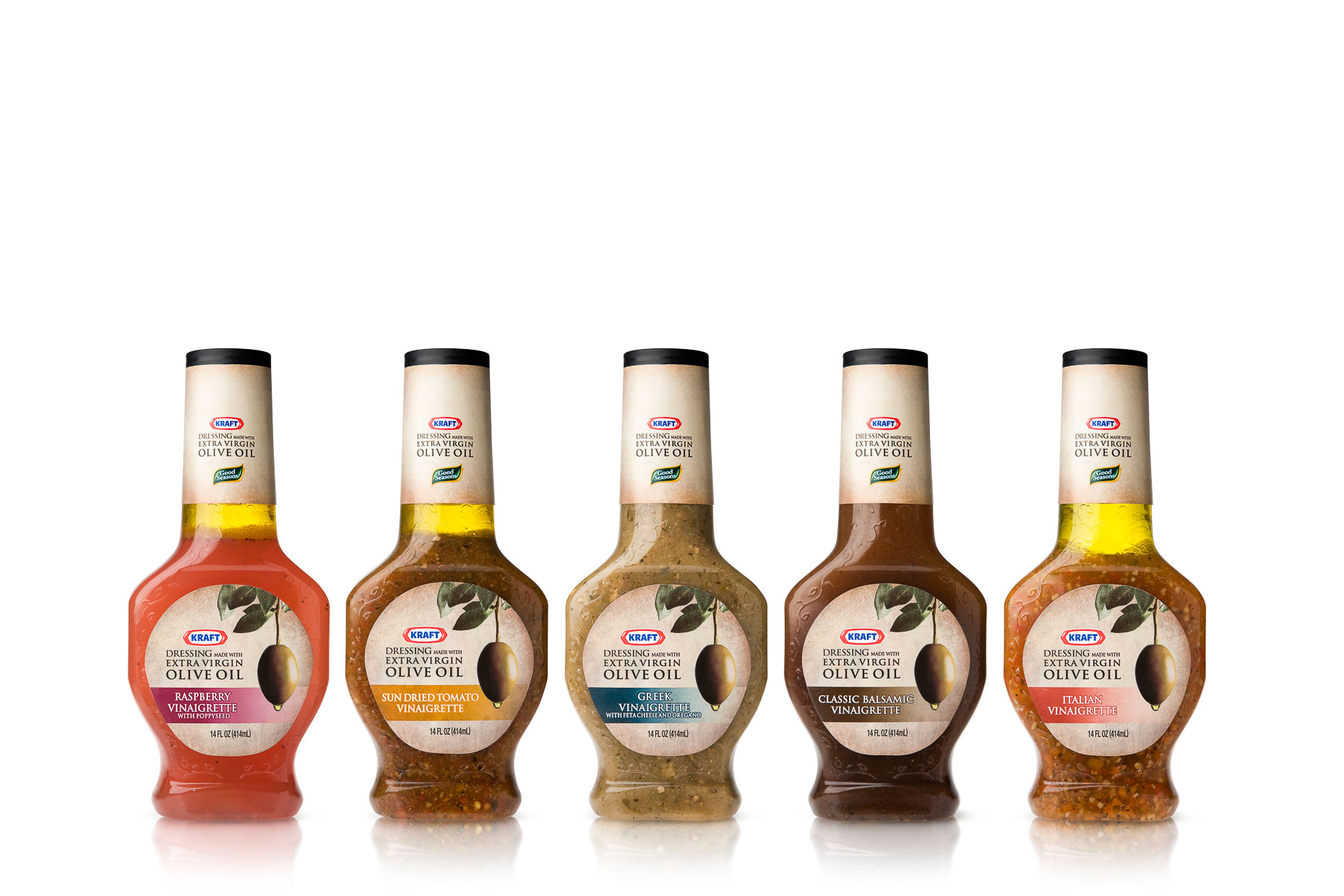 Kraft - Salad Dressing made with Extra Virgin Olive Oil - Package - Spring Design Partners